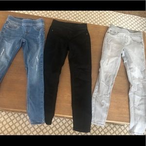 3 pairs of justice jeggings 8 slim